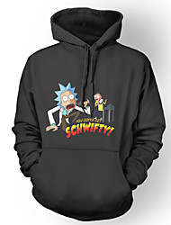 cheap -Inspired by Rick and Morty Hoodie Polyster Print Printing Hoodie For Men's / Women's