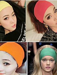 cheap -Fabric Headbands Durag Sports Adjustable Bowknot For Holiday Street Sporty Simple Apple Green Light Gray Dark-Gray 1 Piece / Women's
