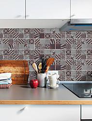 Недорогие -20x10cmx9 шт. Графический ржавый узор наклейки на стены ретро маслостойкие водонепроницаемый плитка обои для кухни ванная комната земля стены украшения дома