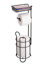 Недорогие -Держатель рулона бумаги в европейском стиле с корзиной для хранения утюг черный древний бумажный вешалка для полотенец положить мобильный телефон ванная комната пол ткань хранения стеллаж