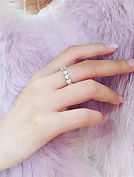 cheap -Synthetic Diamond Ring Silver For Women's Stylish Luxury Elegant Bridal Wedding Party Evening Formal High Quality Classic