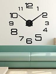 Недорогие -Современный современный / Мода Акрил Круглый Классика В помещении Батарея Украшение Настенные часы Цифровой Нержавеющая сталь Да