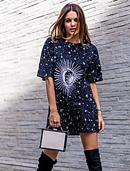 cheap -Women's Graphic Print T-shirt Daily Black