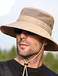 cheap -Men's Sun Hat Polyester Basic - Solid Colored All Seasons Black Blue Khaki