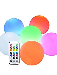 cheap -LED RGB Floating Pool Lights Submersible Lights Color Changing LED Outdoor Lighting Pool Ball with Remote Control IP65 Waterproof Bath Toys for Beach Garden Pond Decoration 1pc 6pcs