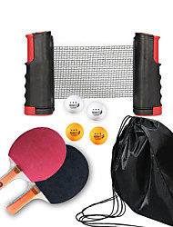 cheap -Ping Pong Paddle Set with Balls and Net Indoor Table Tennis Portable Anti-Wear Durable 1 set 2 * Ping Pong Paddles 1*Ping Pong net 4* Ping Pong Balls Sports