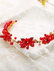 Недорогие -Жен. Свадебные комплекты ювелирных изделий Цветы Стиль Серьги Бижутерия Красный / Белый Назначение Свадьба Для вечеринок 1 комплект