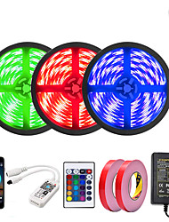 cheap -3x5M Light Sets LED Light Strips RGB Tiktok Lights 450 LEDs 5050 SMD 10mm 1 12V 6A Adapter 1 24Keys Remote Controller 1x 1 To 4 Cable Connector 1 set APP Control Cuttable Party 110-240 V