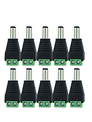 cheap -10 Pcs 12V 2.1 x 5.5mm DC Power Male Plug Jack Adapter Connector Plug for CCTV single color LED Light