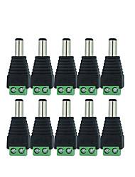 Недорогие -10 шт. 12 В 2,1 х 5,5 мм постоянного тока разъем питания разъем адаптера разъем для видеонаблюдения одного цвета светодиод