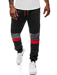 cheap -Men's Basic Skinny Cotton Jogger Pants - Multi Color Drawstring Black Dark Gray Navy Blue US36 / UK36 / EU44 / US38 / UK38 / EU46 / US40 / UK40 / EU48