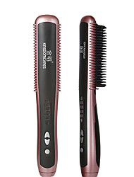 cheap -KSKIN Professional Hair Straightener Brush Ceramic Electric Curling Brush Straightening Men Fast Heating Straightener Comb Styler 130℃-180℃ 6 Gears Adjustable Heating KD388A