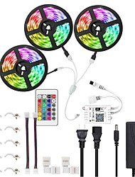 cheap -15M 3x5M WIFI Smart LED Light Strips Kit Waterproof RGB Tiktok Lights 450 LEDs 5050 Phone Controlled LED Strip KitTimer LED Tape LightWorks with Android iOS and Google Home And Power Supply 12V 8A