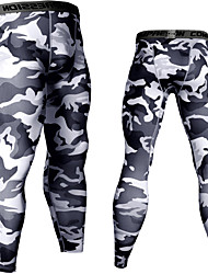 cheap -JACK CORDEE Men's Running Tights Leggings Compression Pants Sports & Outdoor Base Layer Tights Leggings Spandex Winter Running Jogging Training Breathable Quick Dry Moisture Wicking Sport White Black