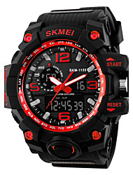 cheap -Men's Sport Watch Fashion Watch Dress Watch Digital Quilted PU Leather Multi-Colored 30 m Water Resistant / Waterproof Calendar / date / day Chronograph Analog - Digital Charm Elegant - Black Yellow