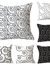 cheap -Set of 6 Polyester Pillow Cover, Geometric Geometic Simple Classic Square Traditional Classic Throw Pillow