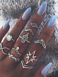 cheap -Ring Silver Alloy Elegant Holiday European 1 set Adjustable / Women's