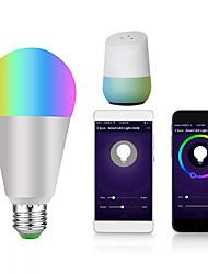 Недорогие -1шт 9 W Круглые LED лампы Умная LED лампа 700 lm E14 B22 E26 / E27 12 Светодиодные бусины Контроль APP Smart синхронизация Multi-цветы 85-265 V