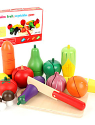 cheap -Toy Food / Play Food Pretend Play Play Kitchen Vegetables Fruit Fruits & Vegetables Magnetic Simulation Wooden Wood Kid's Toy Gift 8-15 pcs