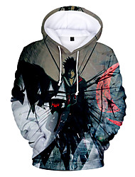 cheap -Inspired by Naruto Naruto Uzumaki Cosplay Costume Hoodie Polyster Print Printing Hoodie For Women's / Men's