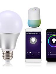 Недорогие -1шт 18 W Круглые LED лампы Умная LED лампа 700 lm B22 E26 / E27 20 Светодиодные бусины Контроль APP Smart синхронизация Multi-цветы 85-265 V