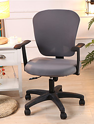 cheap -Computer Office Chair Cover Stretch Rotating Gaming Seat Slipcover  Grey Soft Durable Washable