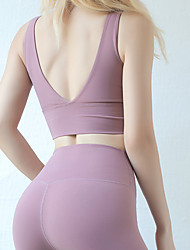 Недорогие -спортивная одежда йога женская тренировка по рюшу / бег из эластана
