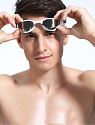 Недорогие -плавательные очки Регулируемый размер УФ-защита покрыло Нет утечки Для Взрослые TPU Поликарбонат Неприменимо желтый Темно-синий Серебро