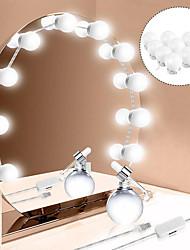 Недорогие -светодиодное зеркало для макияжа лампочка голливудские косметические фонари бесступенчатая настенная лампа с регулируемой яркостью10 комплект ламп для туалетного столика