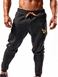 cheap -Men's Sporty Slim Cotton Sweatpants Pants - Print Black Dark Gray US38 / UK38 / EU46 / US40 / UK40 / EU48 / US42 / UK42 / EU50