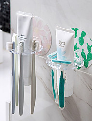 cheap -Punch-free fun toothbrush holder Four-hole multifunctional wall-mounted wash storage rack cartoon toothpaste cleansing milk rack