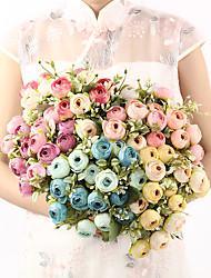 Недорогие -бутон розы шелковый цветок симуляция роза ручной работы вечный букет