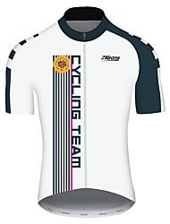 Недорогие -21Grams Муж. С короткими рукавами Велокофты Черный / Белый В полоску Американский / США Флаги Велоспорт Джерси Верхняя часть Горные велосипеды Шоссейные велосипеды / Эластичная / Быстровысыхающий