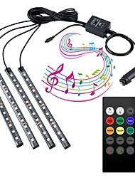 cheap -4m Flexible LED Light Strips Car Lights Flexible Tiktok Lights 48 LEDs SMD5050 Multi Color Decorative TV Background 5 V