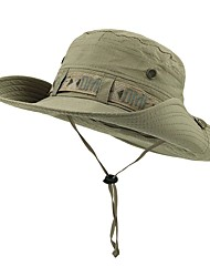 cheap -Sun Hat Fishing Hat Fisherman Hat Hat 1 PCS Portable Sunscreen UV Resistant Breathable Solid Color POLY Autumn / Fall Spring Summer for Men's Women's Camping / Hiking Hunting Fishing Green Dark Green