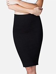 cheap -Women's Date / Office Party Street chic Bodycon Skirts - Solid Colored Knitting Black XS S M