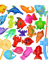 cheap -1 Kit 20pcs Sea Animals Fish 2 Fishing Rod Useful Baby Toy Set Developmental Toy