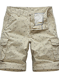 cheap -Men's Hiking Shorts Hiking Cargo Shorts Summer Outdoor Standard Fit Breathable Ultra Light (UL) Sweat-wicking Comfortable Cotton Shorts Bottoms Camping / Hiking Hunting Fishing Light Tan Light Grey