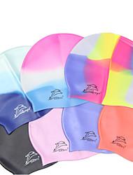 Недорогие -Шапочки для купания для Взрослые Силикон Стреч Удобный Прочный Плавание Водные виды спорта