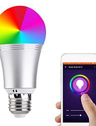 Недорогие -1шт 11 W Круглые LED лампы Умная LED лампа 700 lm E14 B22 E26 / E27 21 Светодиодные бусины Контроль APP Smart синхронизация Multi-цветы 85-265 V