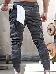 cheap -Men's Sporty wfh Sweatpants Pants - Print / Camouflage Army Green Light gray Dark Gray US38 / UK38 / EU46 US40 / UK40 / EU48 US42 / UK42 / EU50