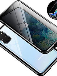 cheap -Magnetic Metal Case 9H Tempered Glass Front and Back Cover Magnetic Case For Samsung Galaxy S10 / S10plus 9H Tempered Glass Metal Frame Dsorption / Shock-Absorption / Case For Samsung Galaxy S9
