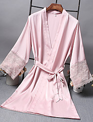 cheap -Women's Hooded Chemises & Gowns Pajamas Color Block