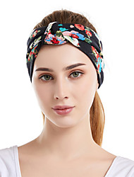 cheap -Fabric Headbands Durag Sports Adjustable Bowknot For Holiday Street Sporty Simple Blushing Pink Dark Blue Black / Women's