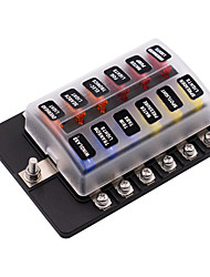 Недорогие -Автоматические автоматические выключатели 32v / блок предохранителей 1 в 12 с винтовой клеммной колодкой со светодиодным индикатором / двойной предохранитель / материал для защиты окружающей среды