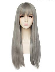 Недорогие -Shakugan no Shana Unicorn Пони Косплэй парики Жен. Прямая челка 26 дюймовый Термостойкое волокно Естественные прямые Серый Серый Аниме