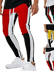 cheap -Men's Jogger Pants Joggers Running Pants Track Pants Sports Pants Athletic Athleisure Wear Bottoms Side-Stripe Pocket Drawstring Cotton Sport Running Jogging Training Breathable Soft Moisture Wicking