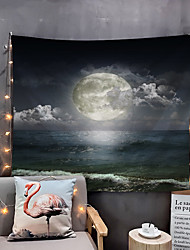 cheap -Home Living The Night MoonTapestry Wall Hanging Tapestries Wall Blanket Wall Art Wall Decor Big Moon Tapestry Wall Decor