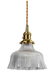 cheap -18 cm Single Design Pendant Light Glass Glass Geometrical Electroplated Nordic Style 110-120V / 220-240V