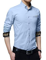 cheap -Men's Daily Work Business / Basic Shirt - Leopard Wine
